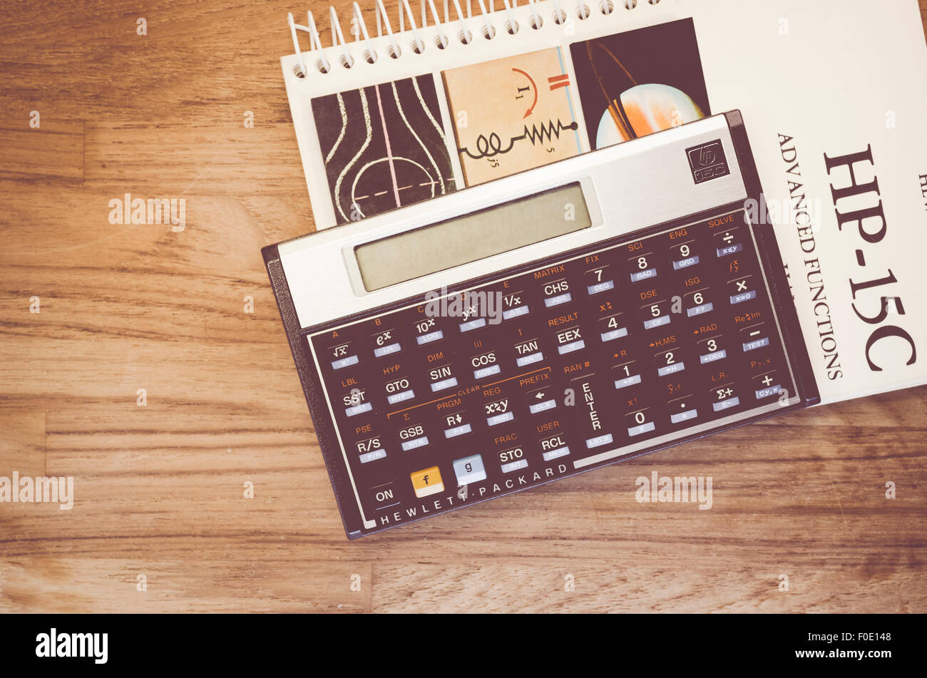 hp 15c hewlet packard rpn scientific calculator and manual on a rh alamy com hp 15c manual portugues hp 15c manuale italiano