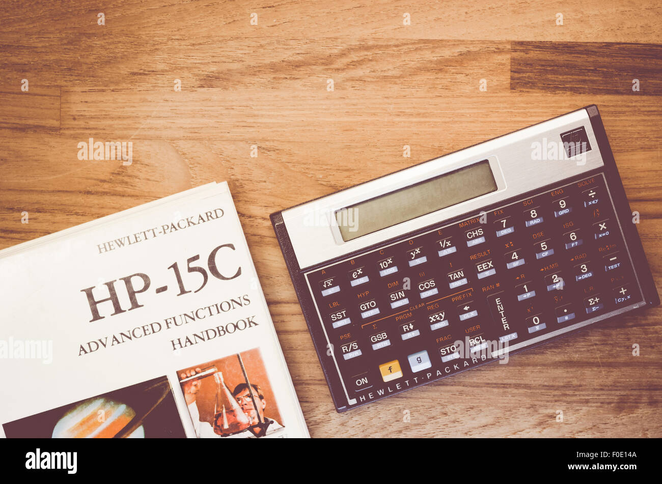 hp 15c hewlet packard rpn scientific calculator and manual on a rh alamy com hp 15c manual download pdf hp 15c manual download pdf