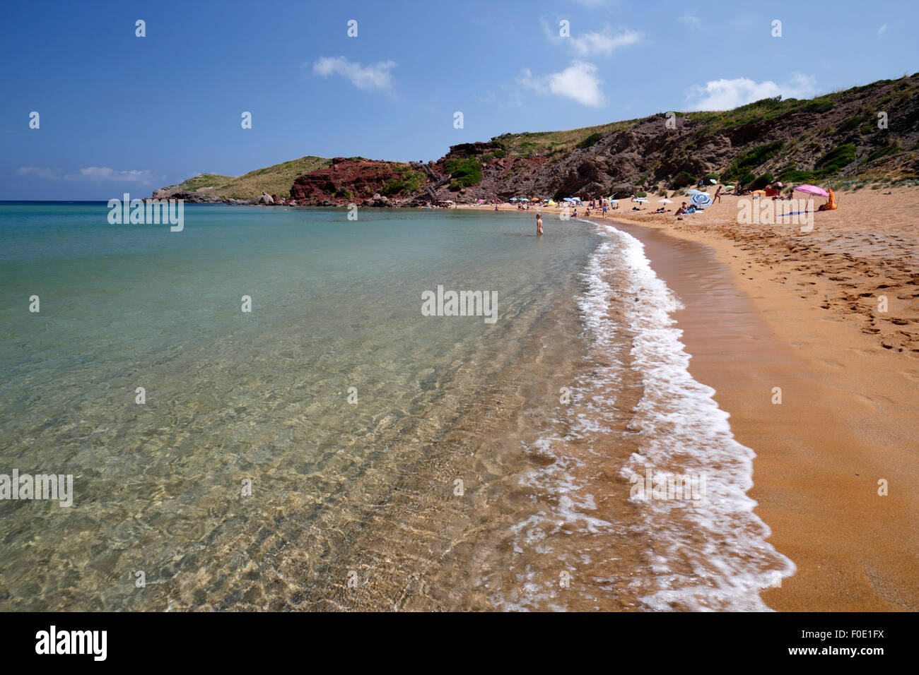 Platja de Cavalleria (Cavalleria beach), near Fornells, North Coast, Menorca, Balearic Islands, Spain, Europe - Stock Image