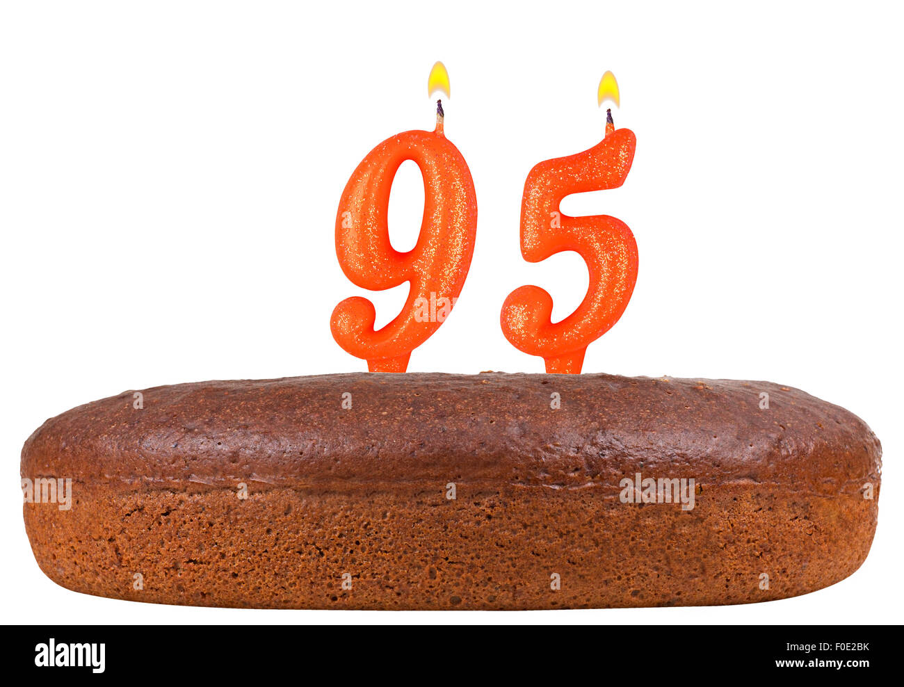Birthday Cake Candles Number 95 Isolated Stock Photo