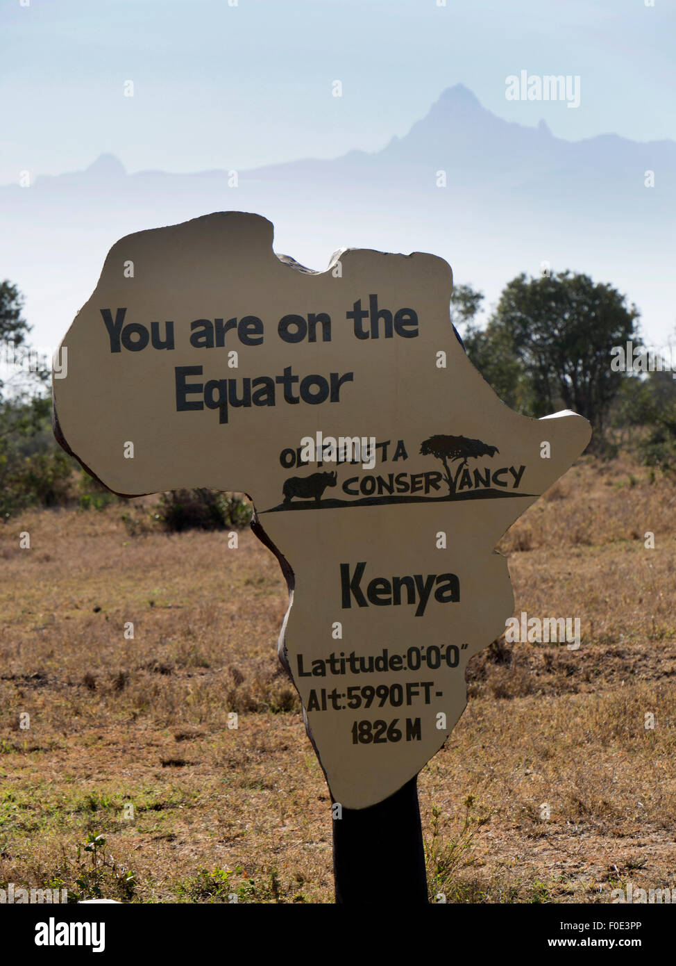 Equator plaque - Stock Image