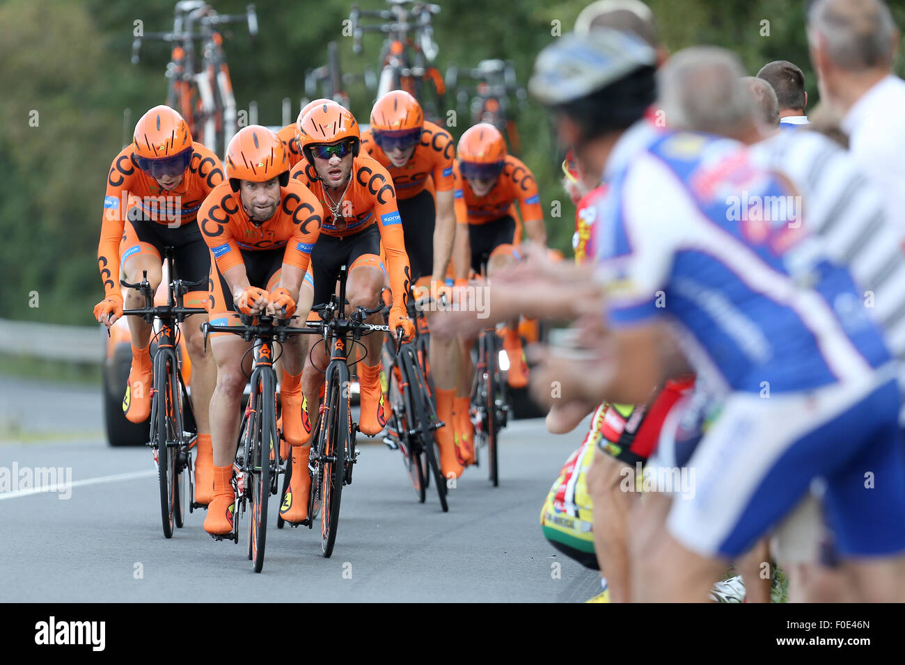 cef2d8404 CCC Sprandi Polkowice team competes during the Czech Cycling Tour 2015 in 1st  stage team time