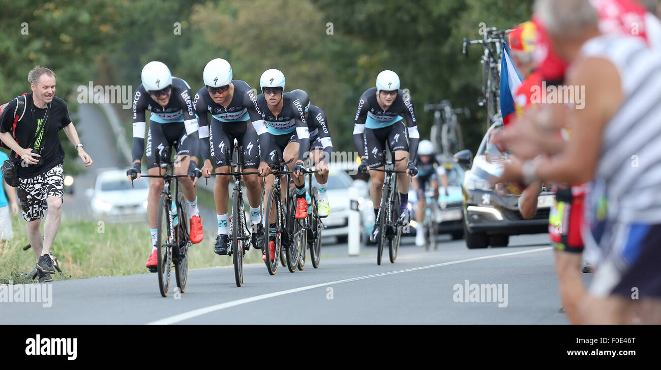 f4db12685 ETIXX - Quick step team competes during the Czech Cycling Tour 2015 in 1st  stage team