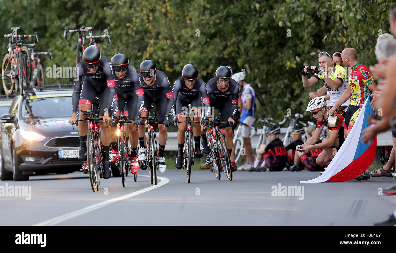 26c8e0db5 Bora-Argon team competes during the Czech Cycling Tour 2015 in 1st stage  team time