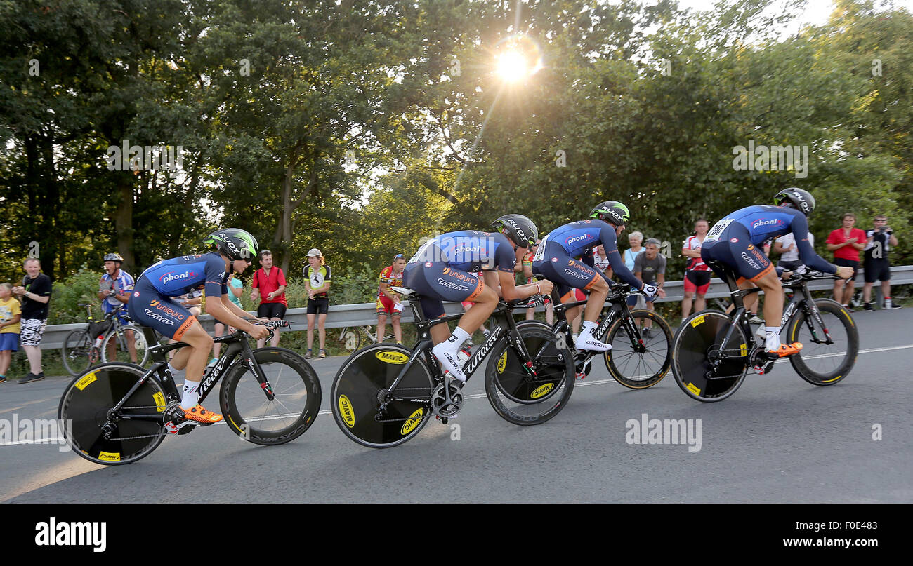 33b1659e7 Unieuro Wilier team competes during the Czech Cycling Tour 2015 in 1st  stage team time trial