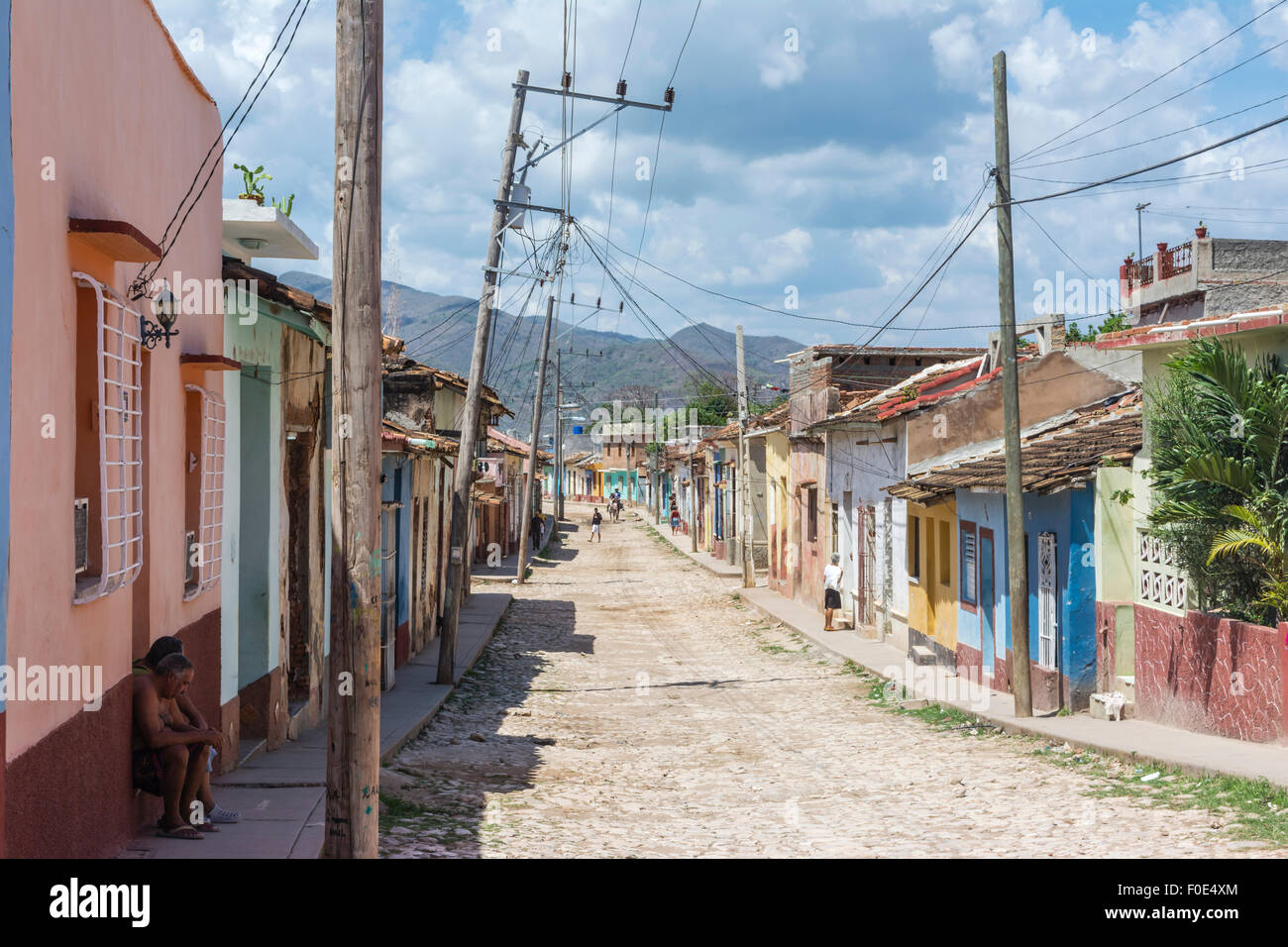 Buildings in Trinidad, Cuba - Stock Image