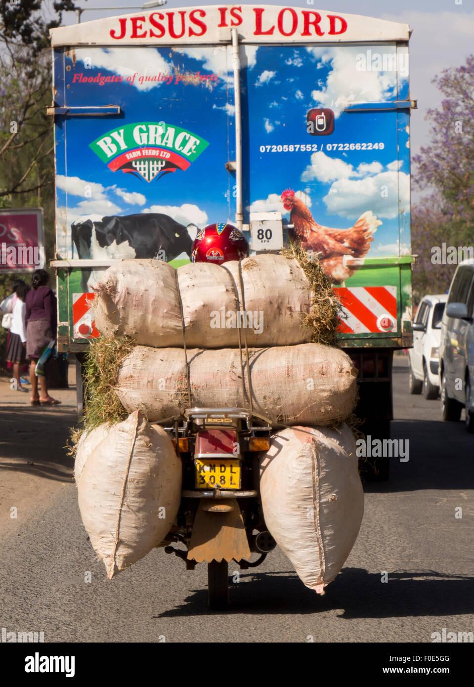 East Africa, Kenya, road traffic - Stock Image
