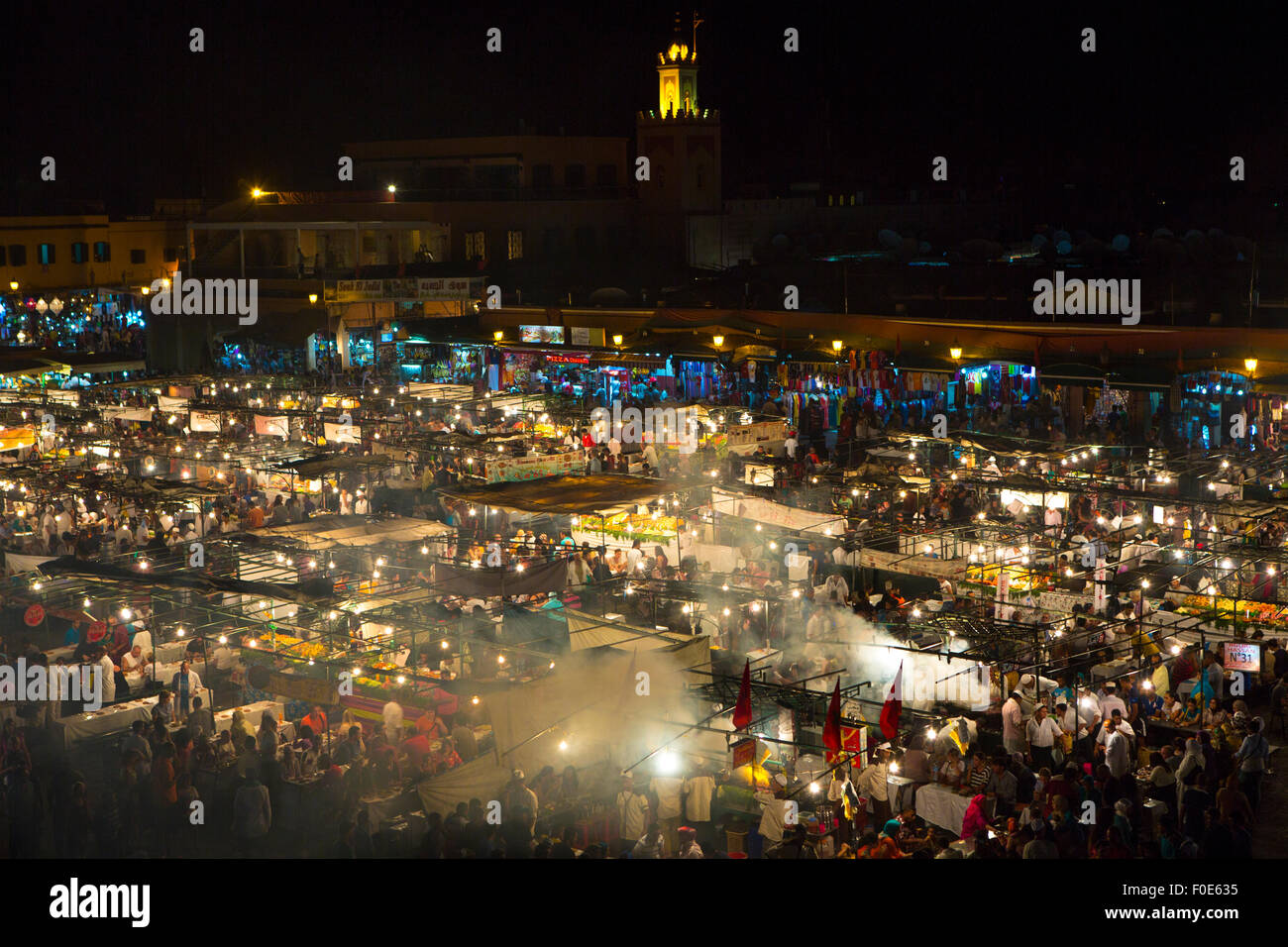 Djemaa el Fnaa is a square and market place in Marrakesh medina quarter. Morocco Stock Photo