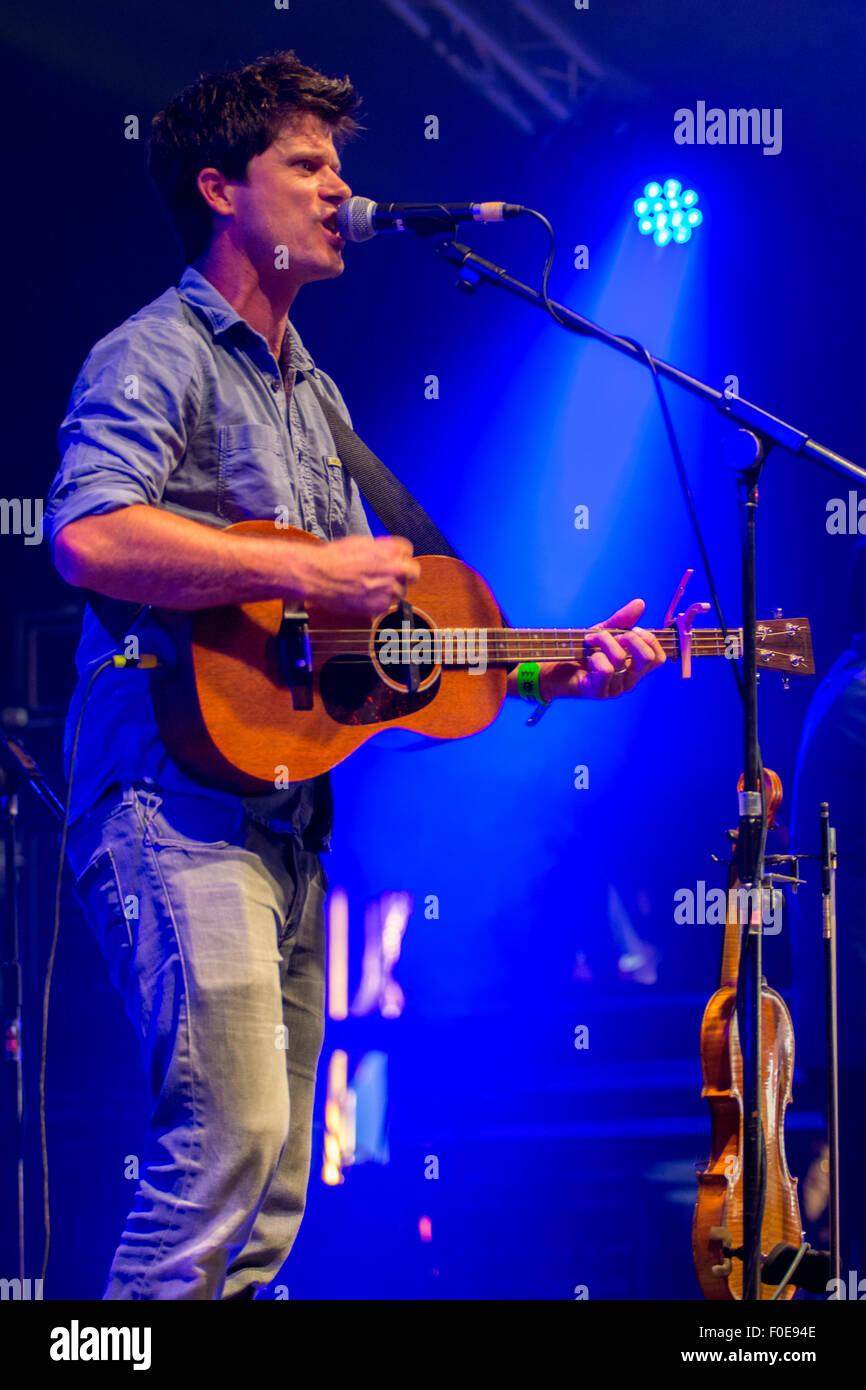 Seth Lakeman  at Wickham Festival 080815 - Stock Image