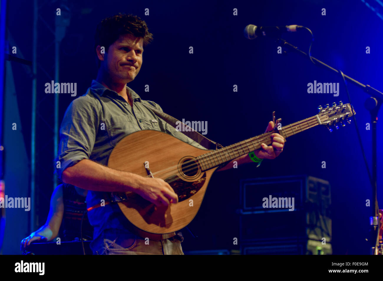 Seth Lakeman  at Wickham Festival 080815 - Stock Image