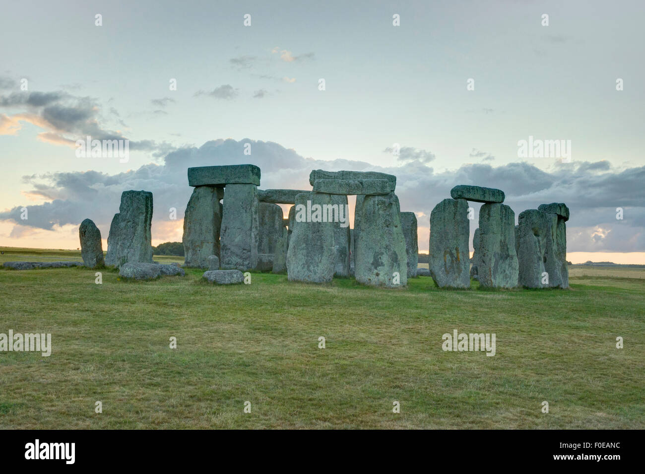 stonehenge ancient stone circle England - Stock Image