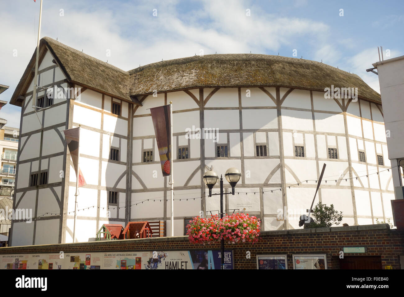 The Globe Theatre is the modern reconstruction of Shakespeare Globe. - Stock Image