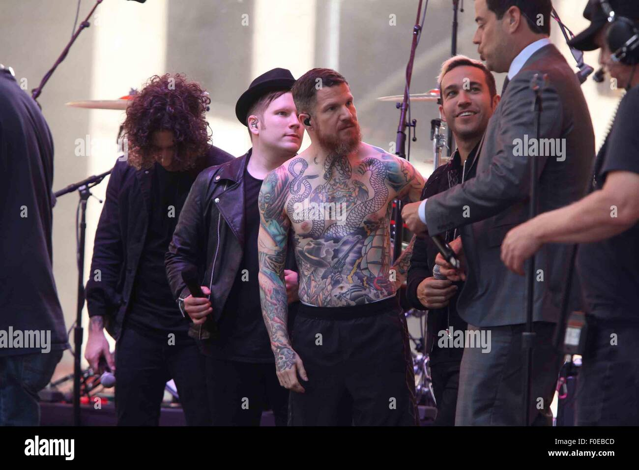 Fall Out Boy Perform On Nbcs Today Show Summer Concert