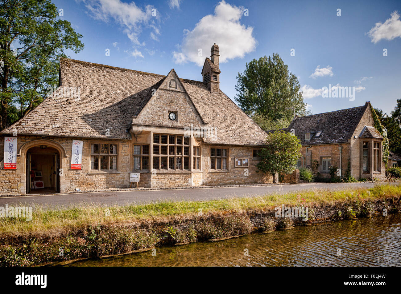 Village Hall in Lower Slaughter, Gloucestershire. - Stock Image
