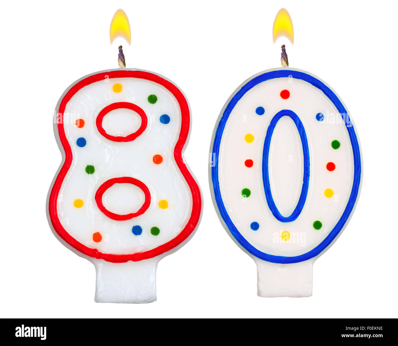 Birthday Candles Number Eighty