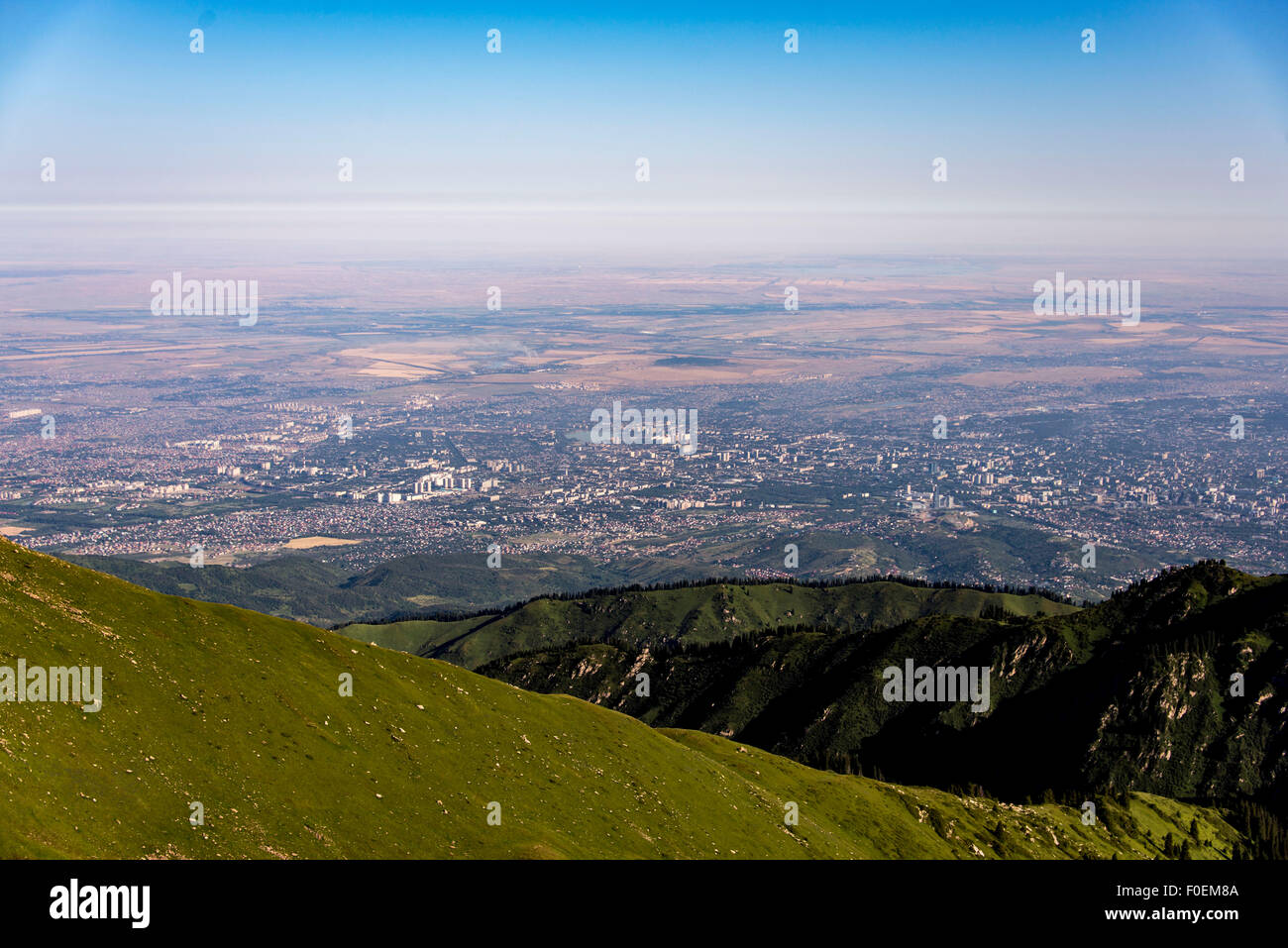 Summer mountain landscape in Almaty, Kazakhstan - Stock Image