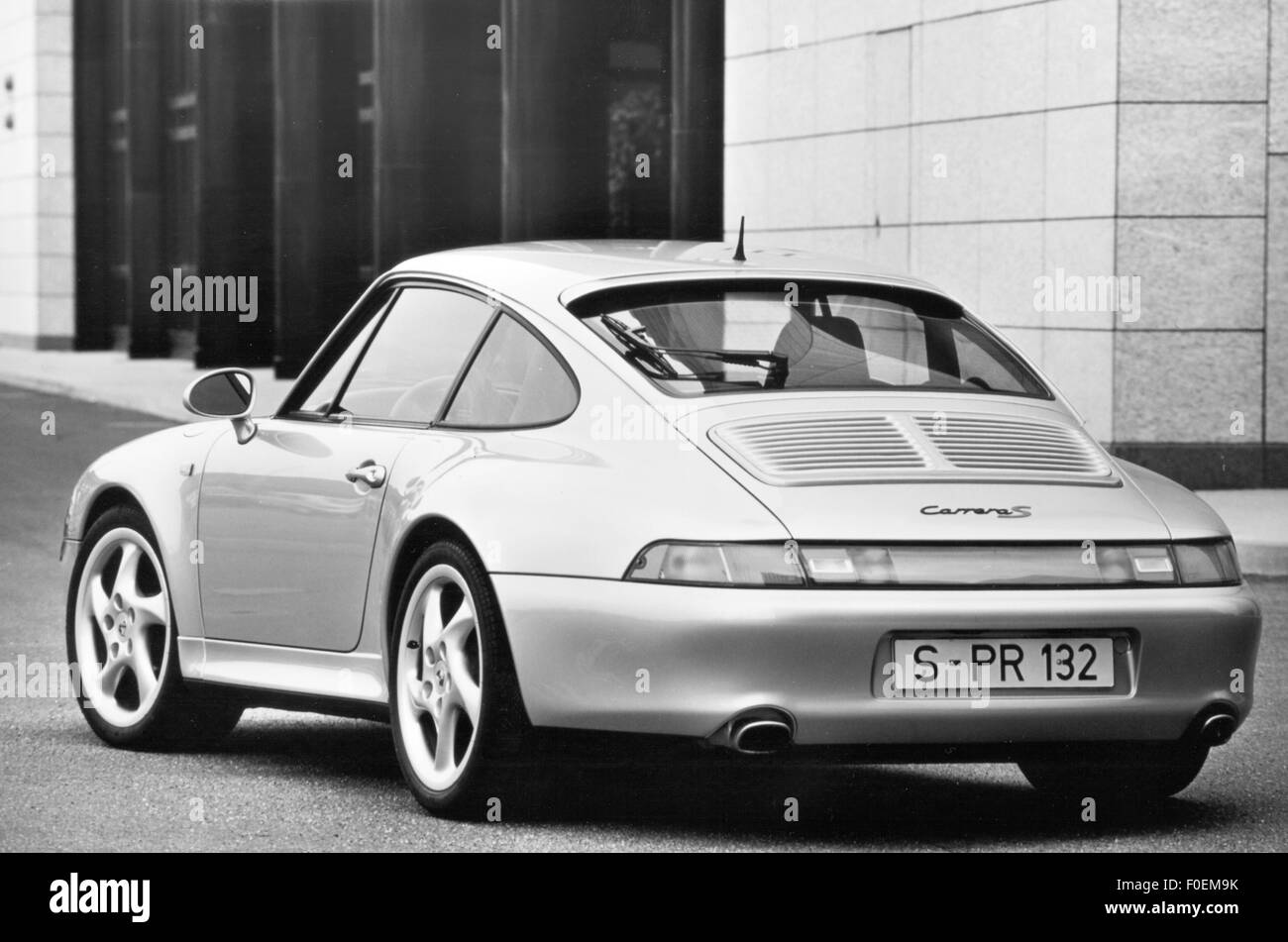 transport / transportation, cars, vehicle variants, Porsche 911 Carrera S, 1998, view from left behind, 1998, vehicle, - Stock Image