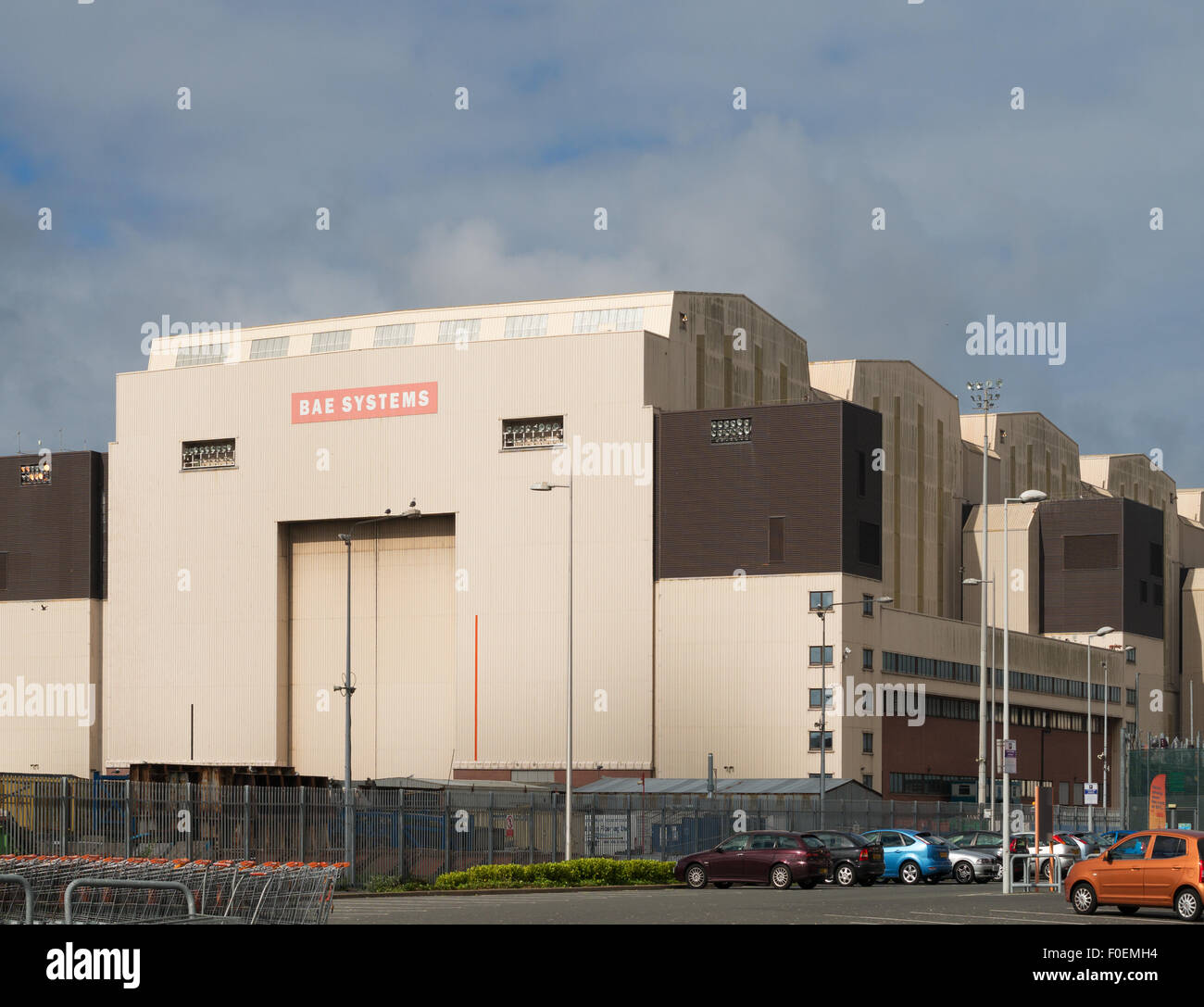 BAE Systems factory Barrow-in-Furness, Cumbria, England, UK - Stock Image