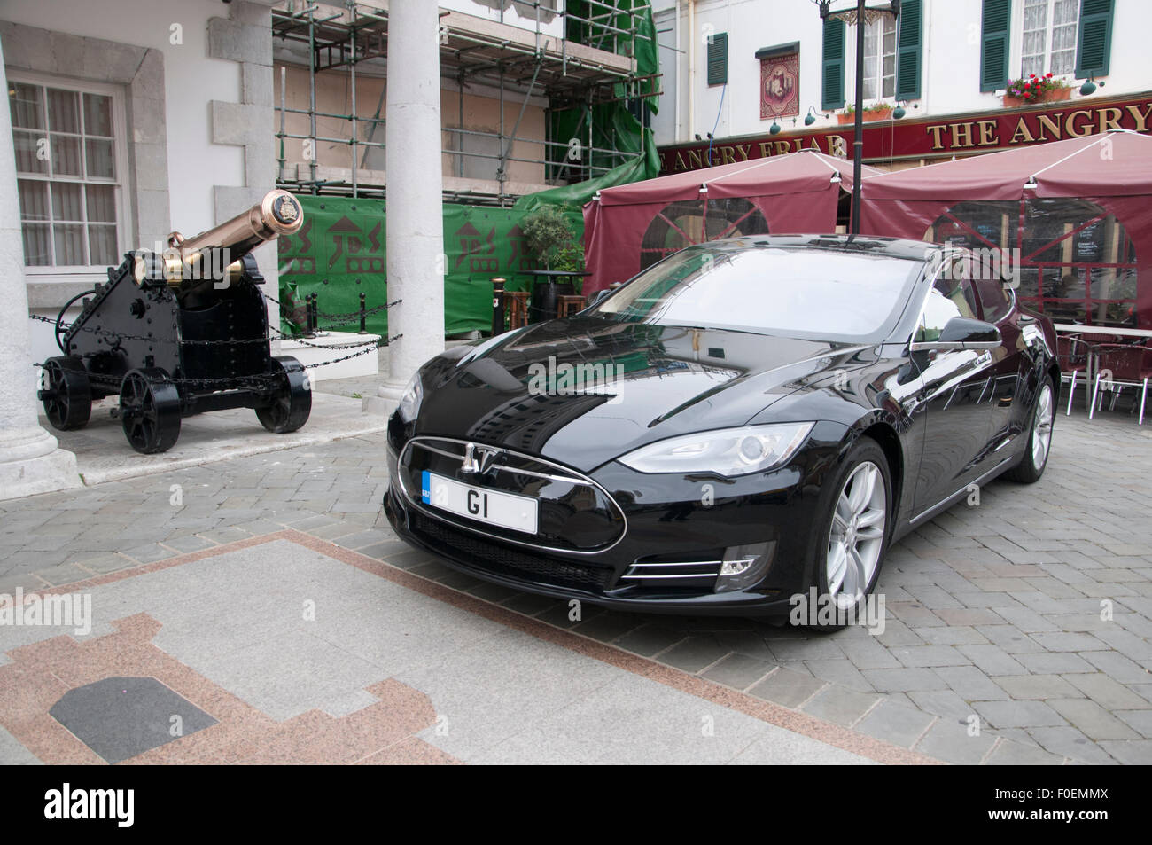 The Governor S Car On The Rock Of Gibraltar At The Entrance To The