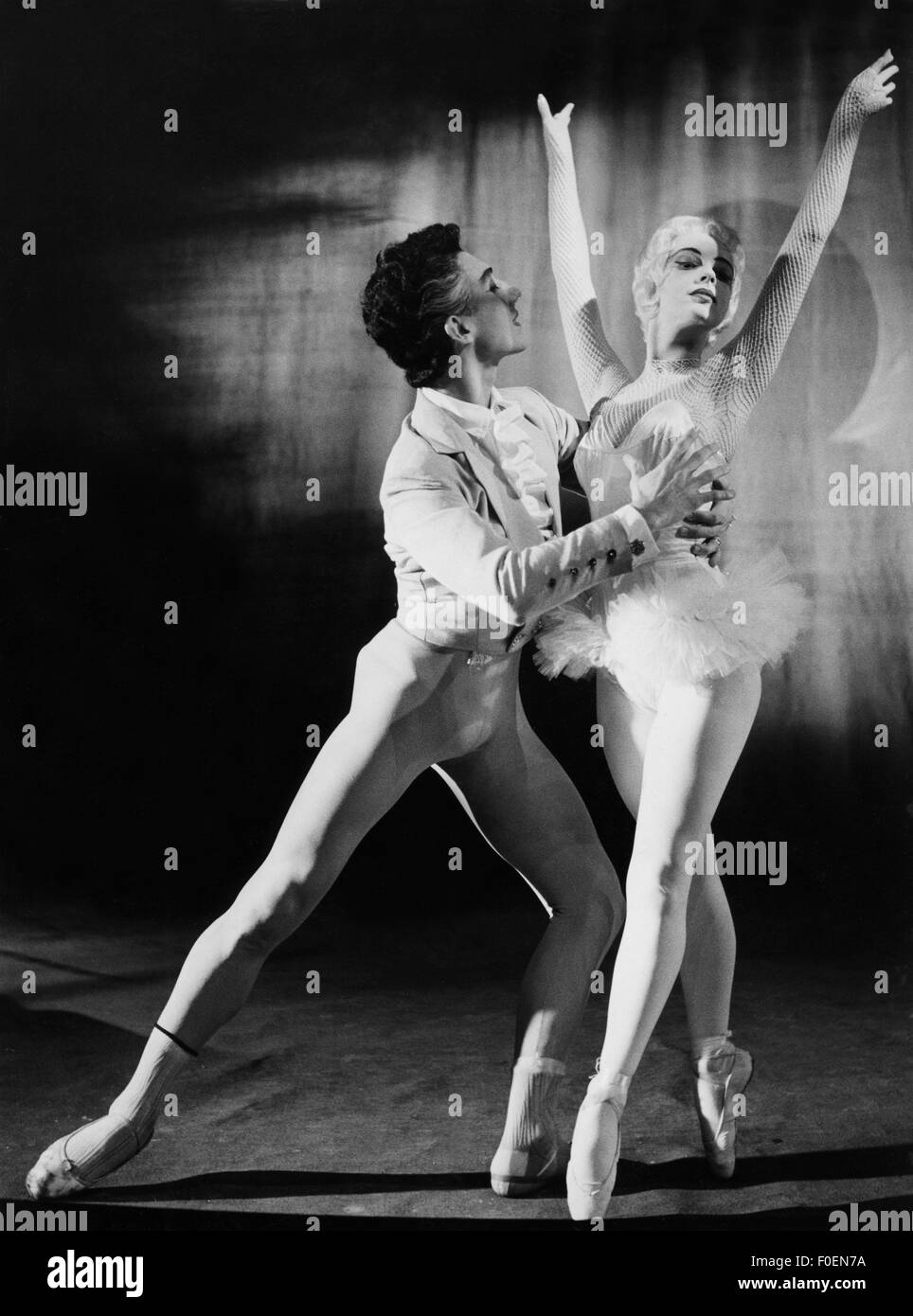 dance, ballet, couple in classical pose, 1950s, Additional-Rights-Clearences-NA - Stock Image
