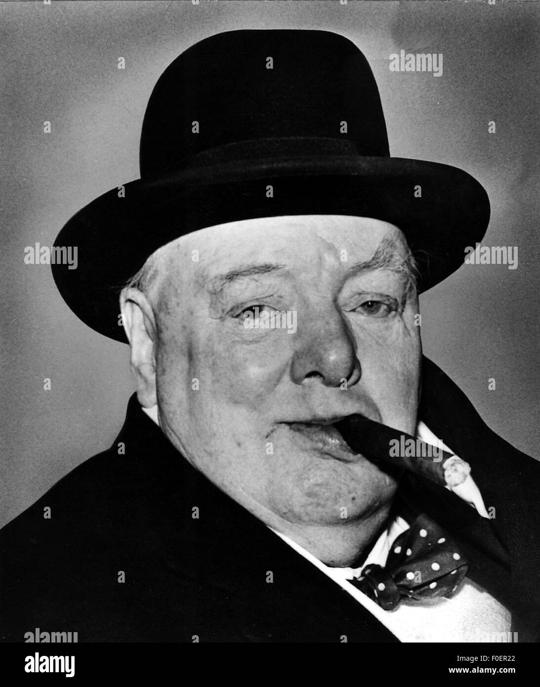 Churchill, Winston, 30.11.1874 - 24.1.1965, British politician (Cons.), portrait, circa 1960, Additional-Rights - Stock Image