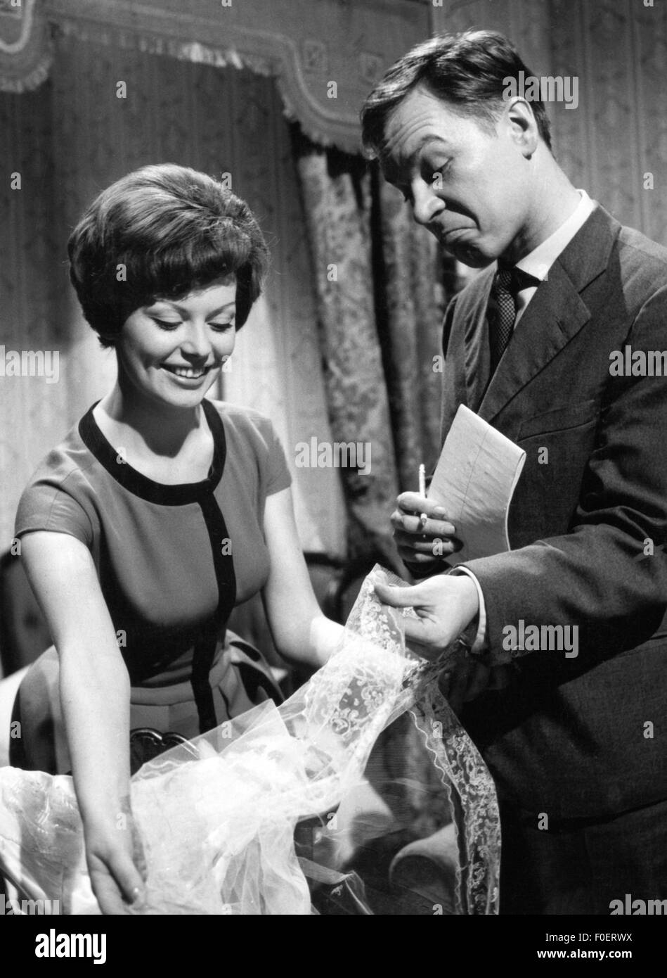 broadcast, television, programmes, commercial for curtains, Germany, 1960, Additional-Rights-Clearences-NA - Stock Image