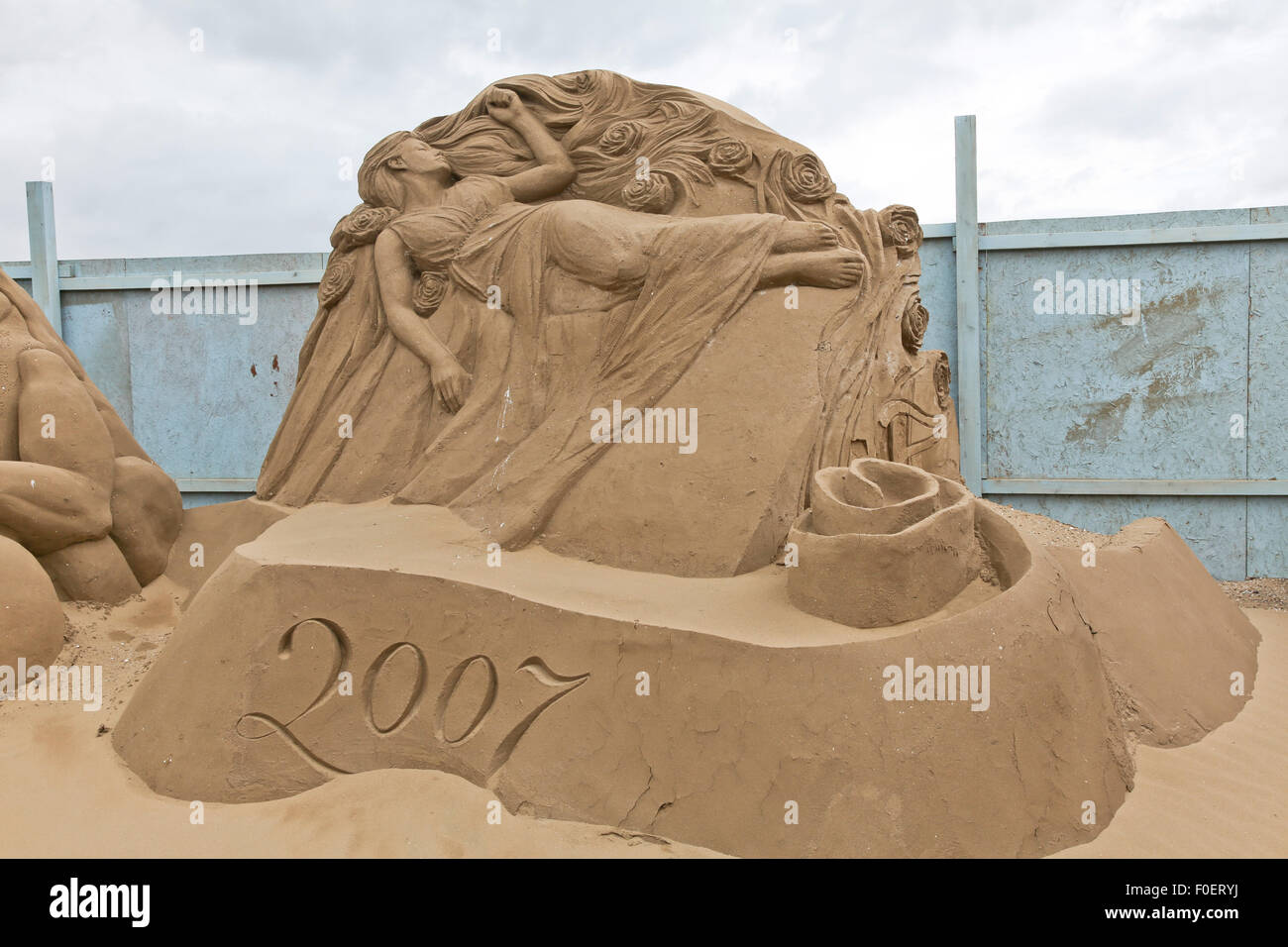Sand Sculptures at Weston-Super-Mare - Stock Image