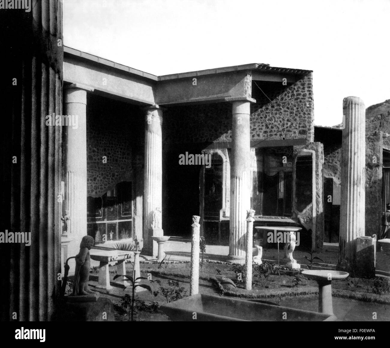 geography / travel, Italy, Pompeii, excavations, view of the Casa Vetti (House of the Vetti), circa 1890, Additional - Stock Image
