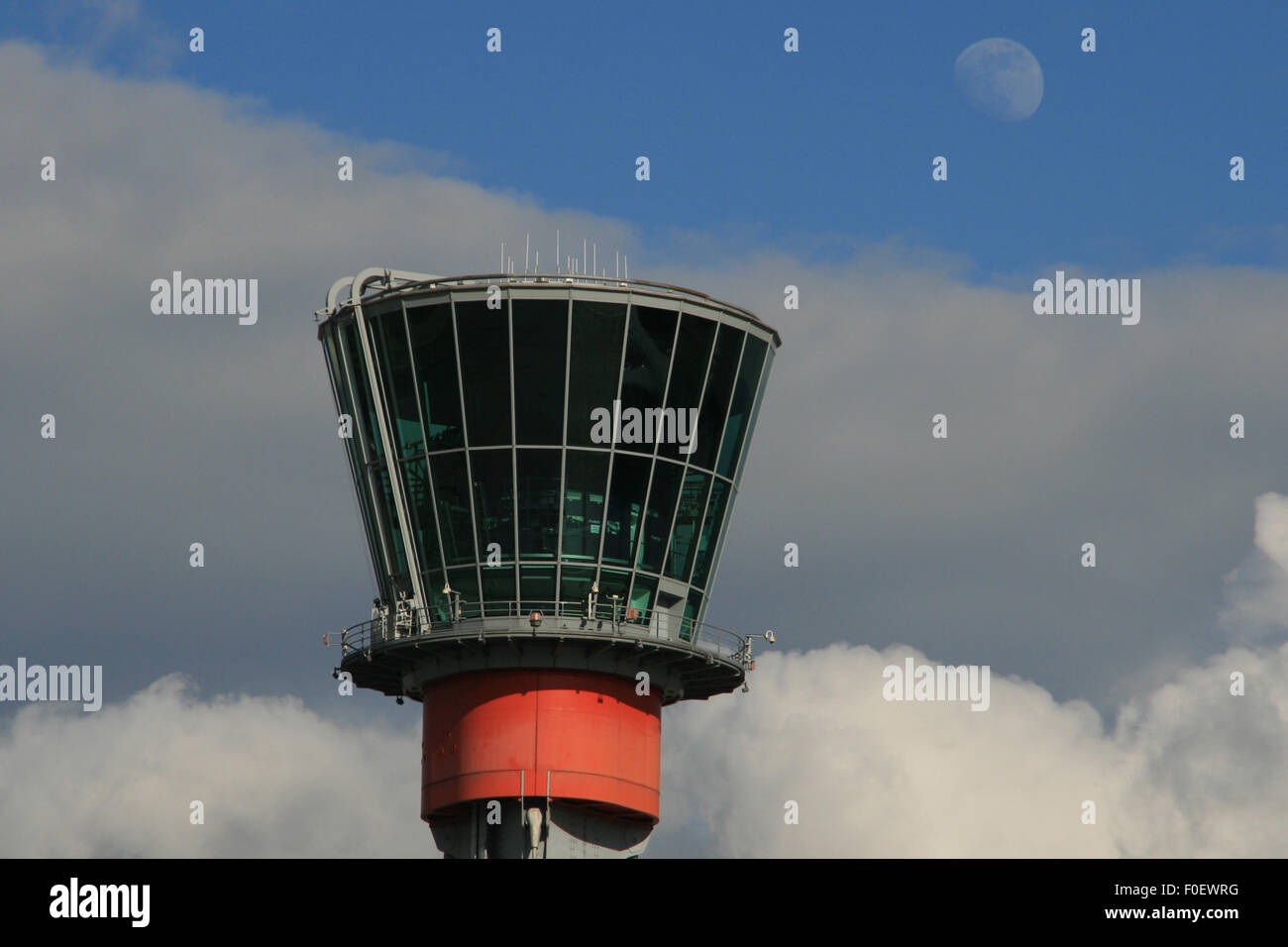 AIR TRAFFIC CONTROL TOWER HEATHROW - Stock Image