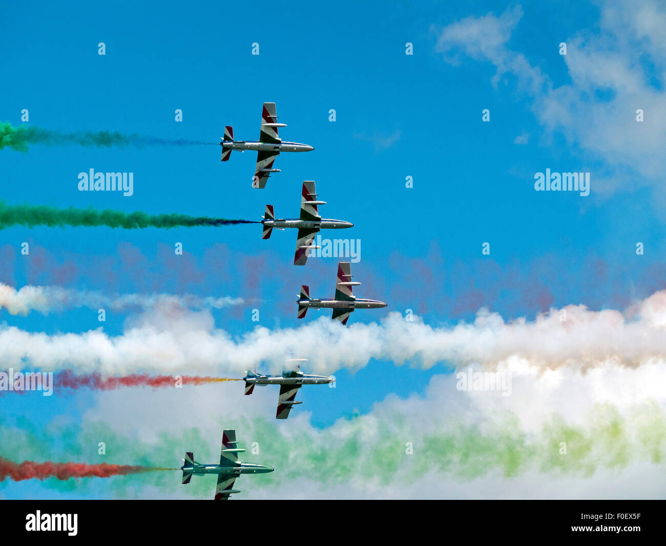 The Frecce Tricolori Italian Aerobatic Display Team Stock Photo