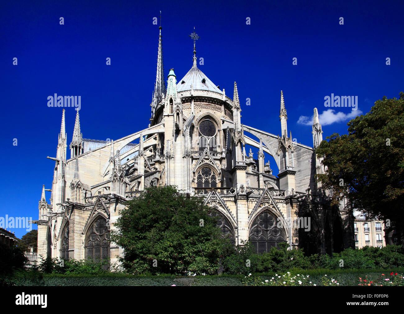 Notre Dame de Paris, Paris, France, Europe - Stock Image