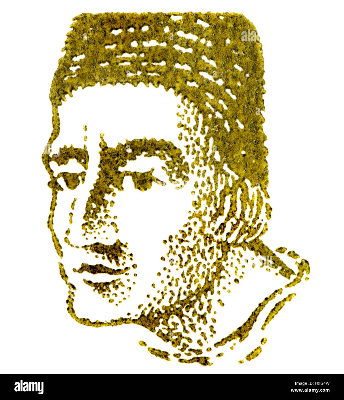 Portrait of Albertus Magnus / Albert the Great / Albert of Cologne (1193-1280: Catholic saint, German Dominican - Stock Image