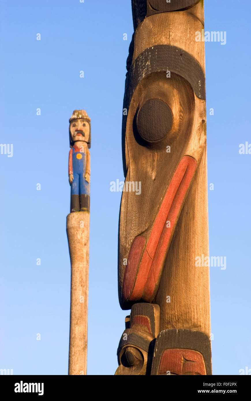 Totem pole, Victor Steinbrueck Park, Seattle, Washington - Stock Image