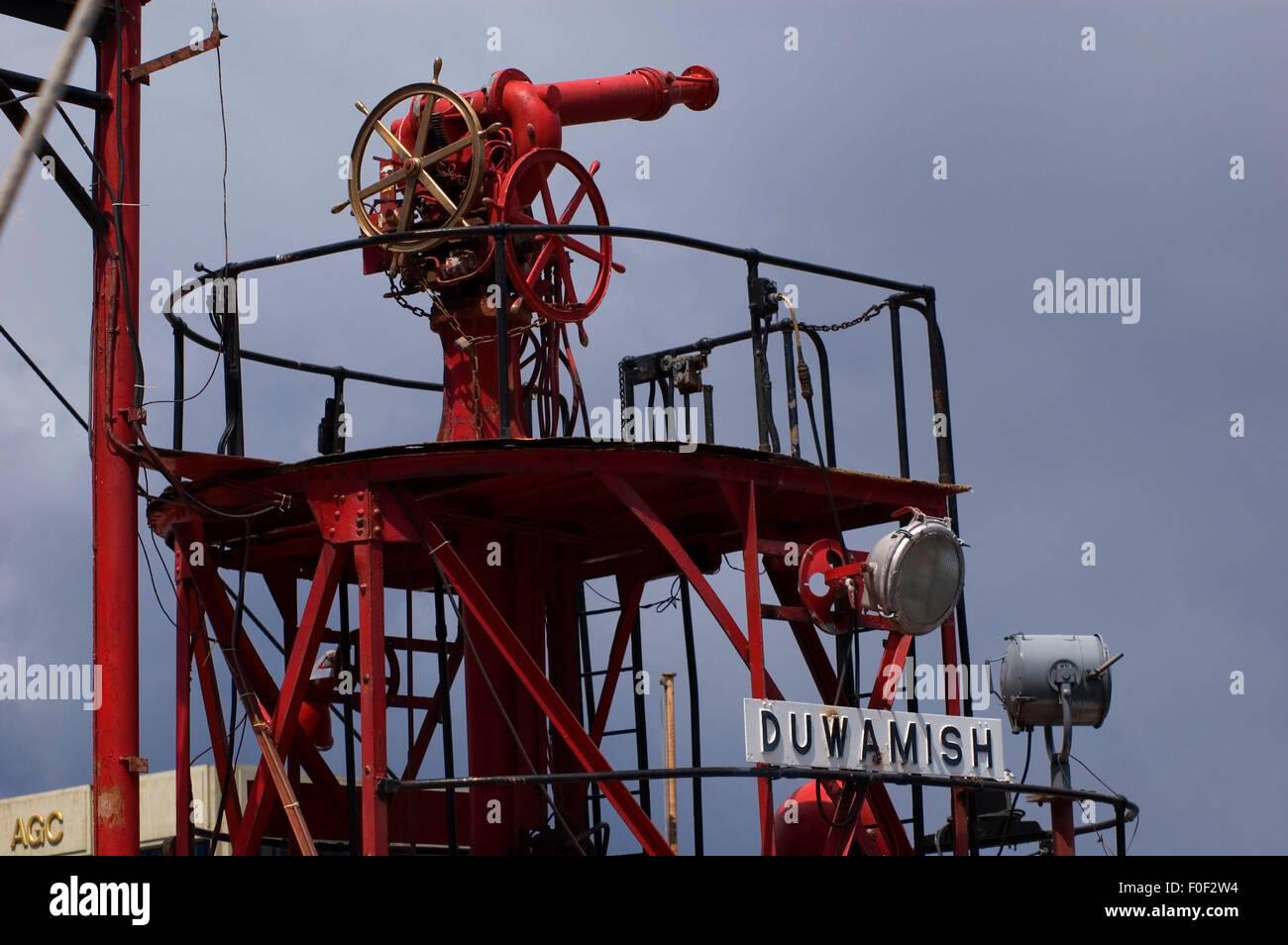 Fireboat Duwamish, Northwest Seaport, Seattle, Washington Stock Photo