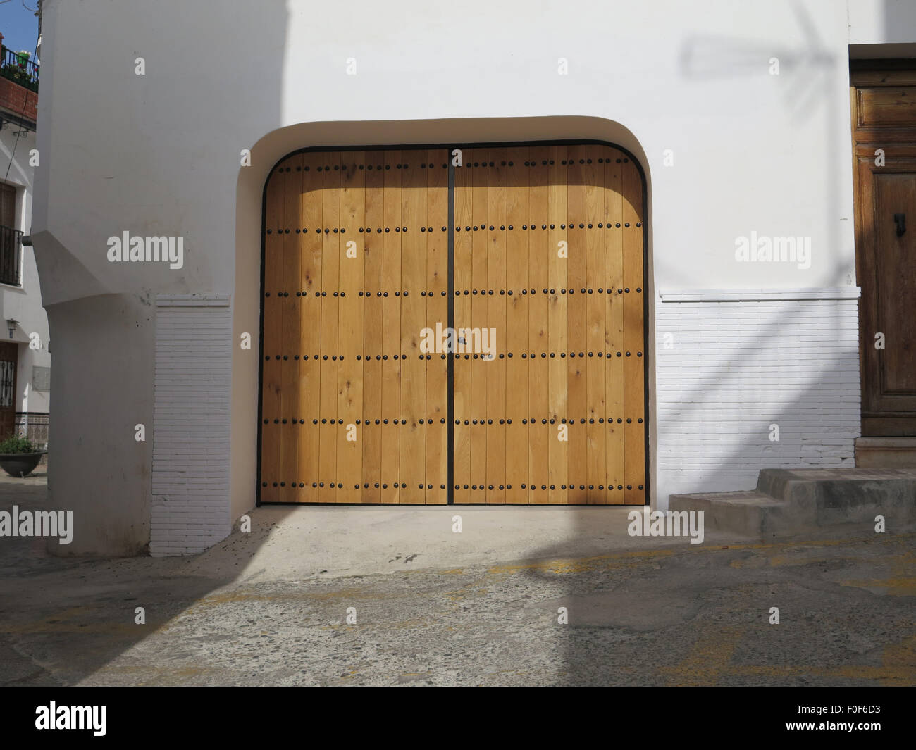 Traditional Andalusian wooden doors with big iron studs - Stock Image & Door With Studs Stock Photos \u0026 Door With Studs Stock Images - Alamy