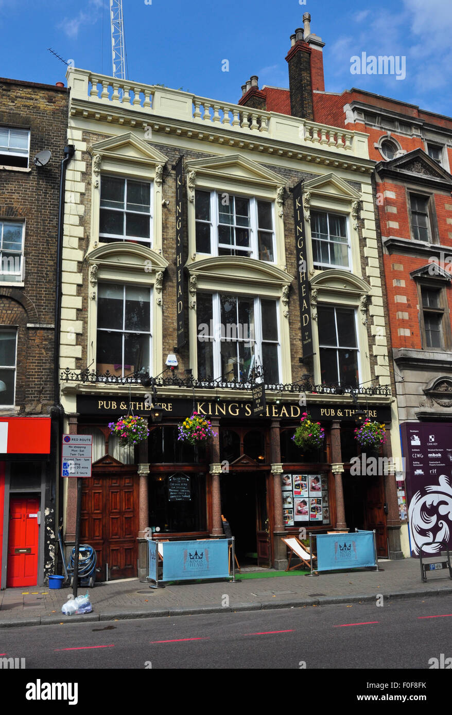 King's Head Theatre Pub, Upper Street, Islington, London, England, UK - Stock Image