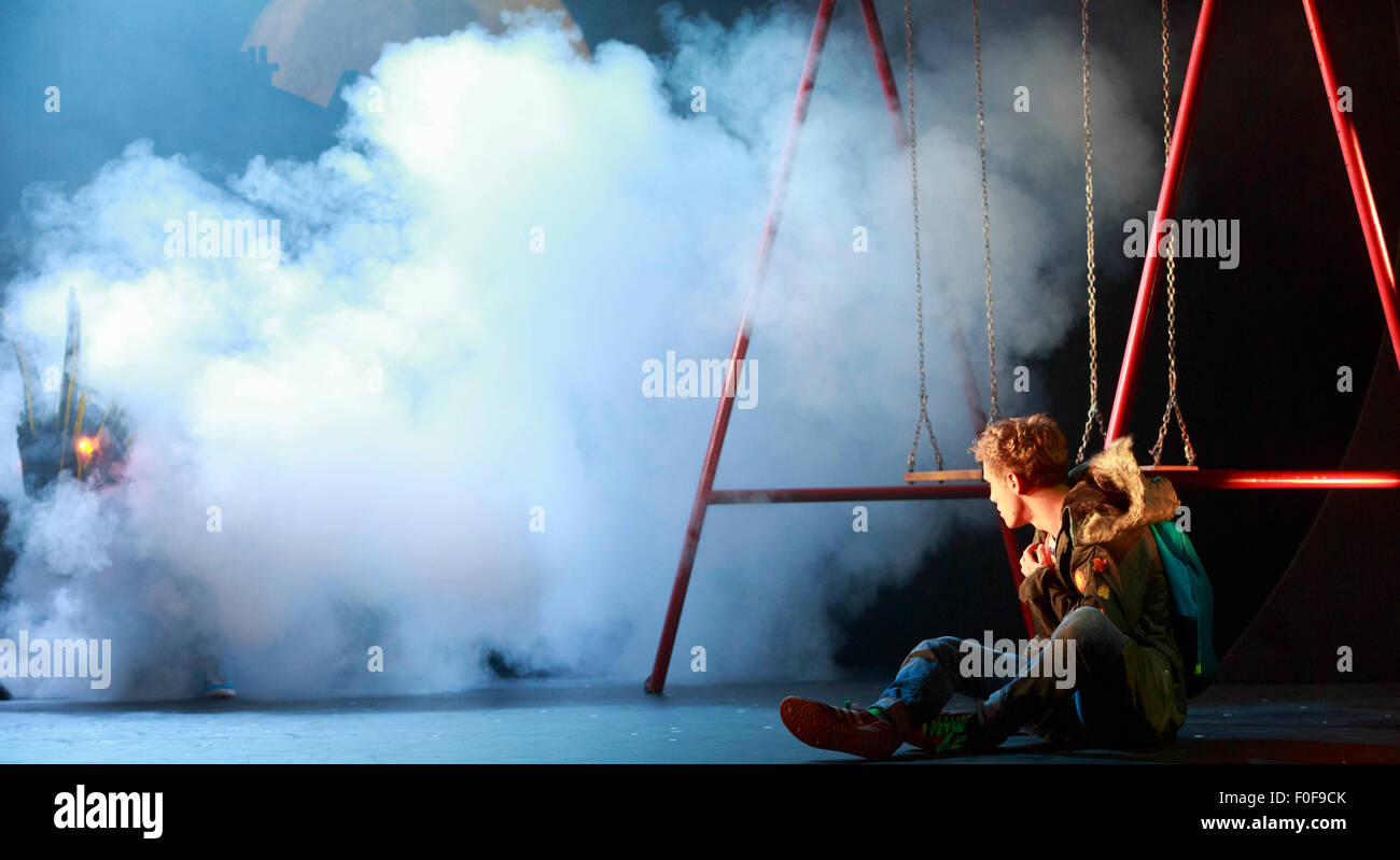 Edinburgh. UK. 14th August. Photo call at Royal Lyceum Theatre, Edinburgh. 'Dragon' is a story for adults, - Stock Image