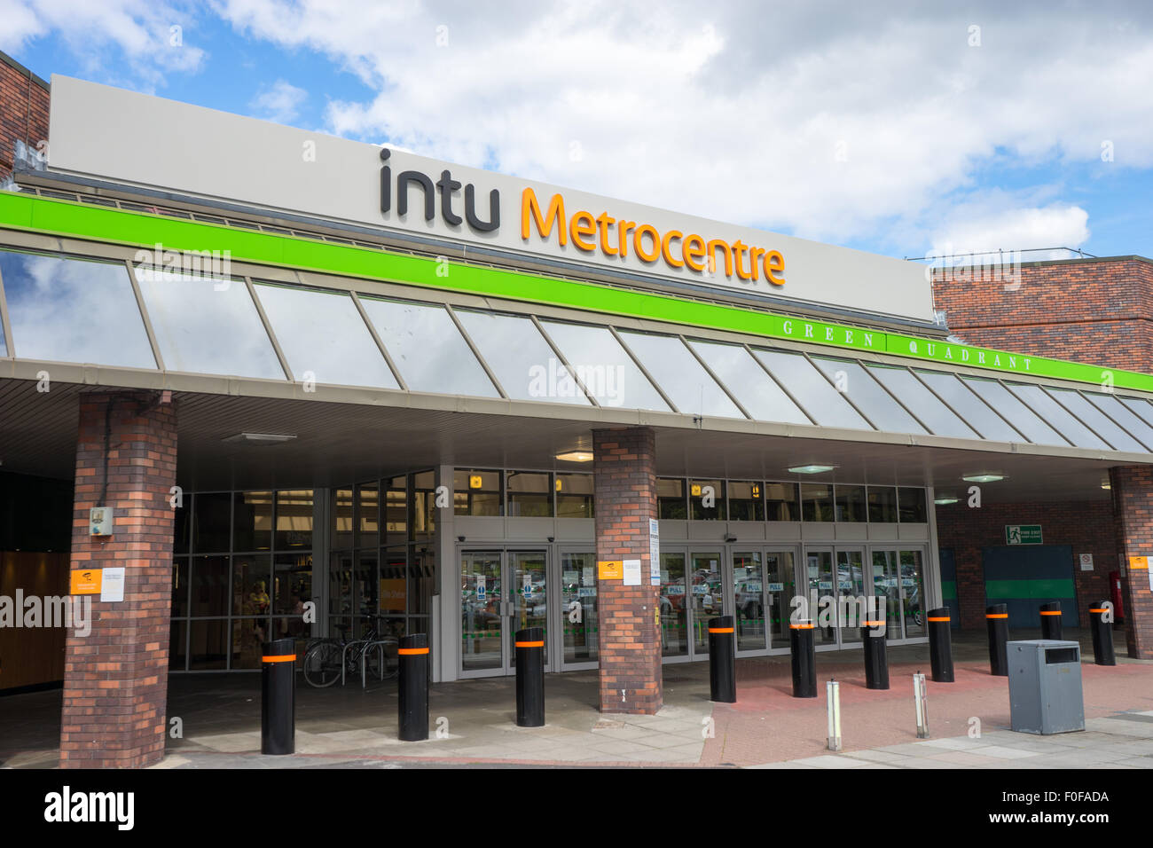 Green Mall Entrance Of The Intu Metrocentre Also Known As