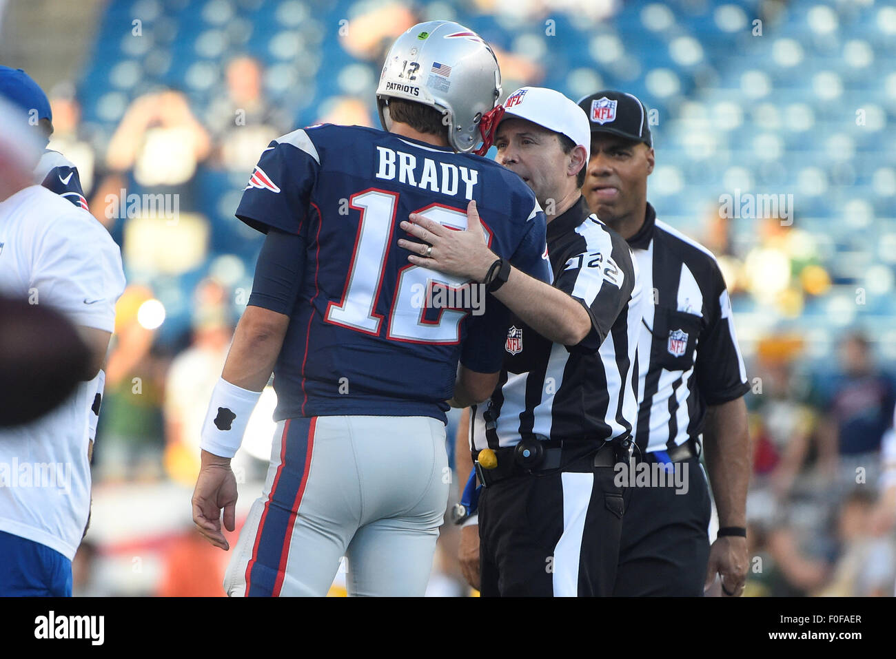 August 13 2015 Nfl Referee Brad Allen 122 And New England Stock