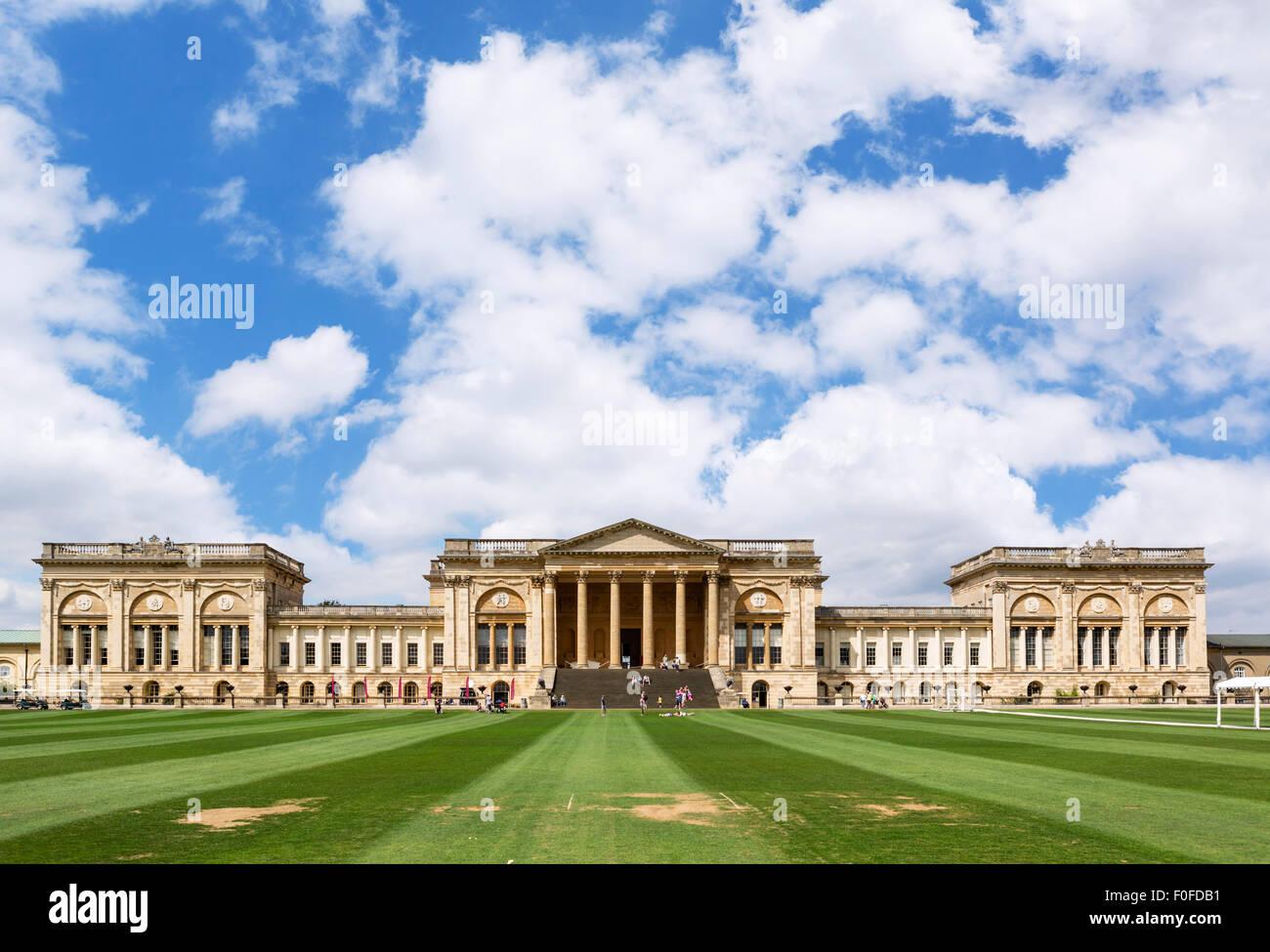 The southern facade of Stowe House, Buckinghamshire, England, UK - Stock Image
