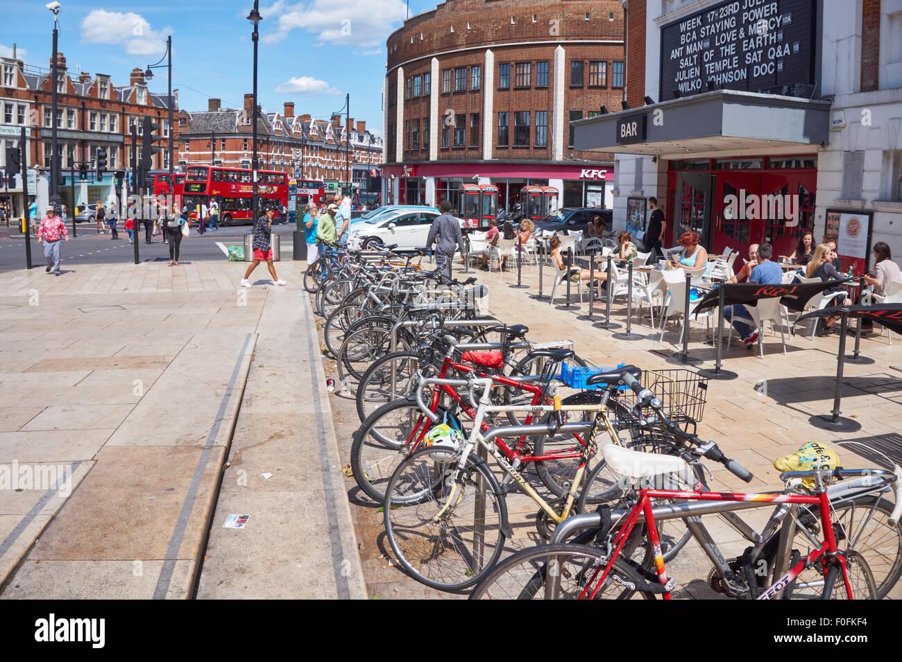 Brixton Road in the London Borough of Lambeth, London England United Kingdom UK - Stock Image