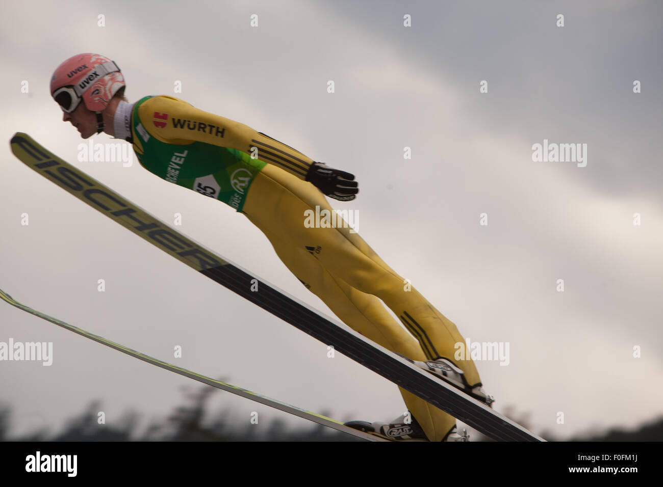 Courchevel, France. 13th Aug, 2015. Ski Jumping World Cup, Grand Prix Men, 5th Grand Prix Competition, Courchevel - Stock Image