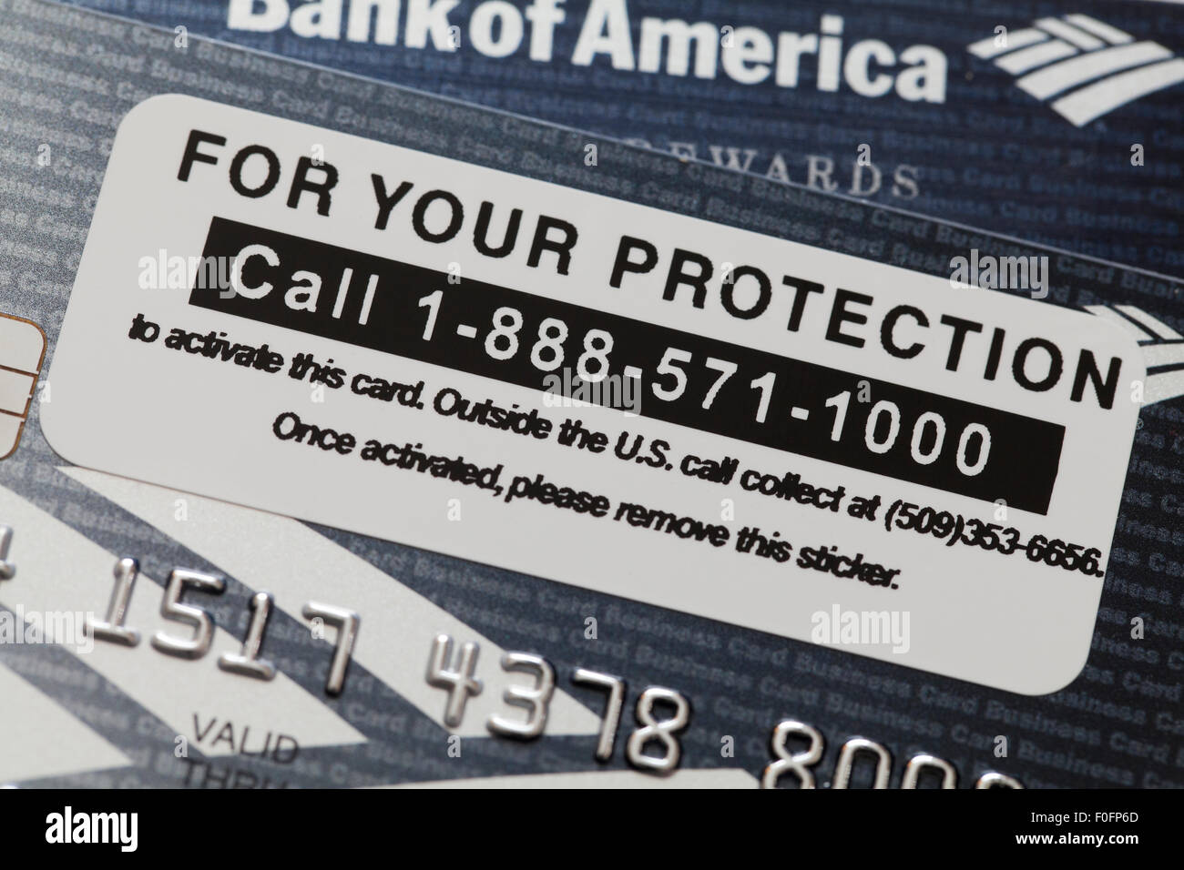 number to activate bank of america debit card