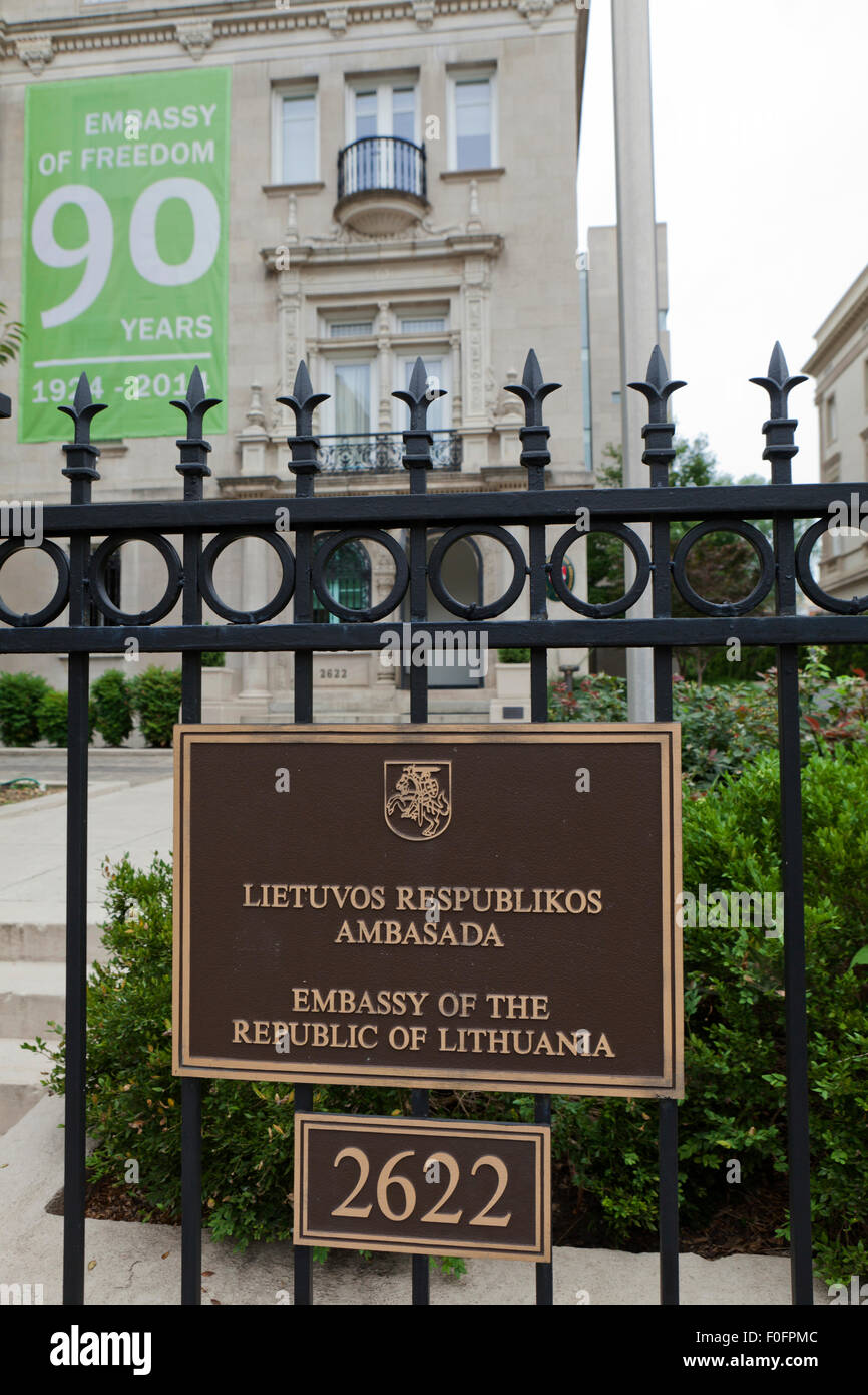 Embassy of the Republic of Lithuania - Washington, DC USA - Stock Image