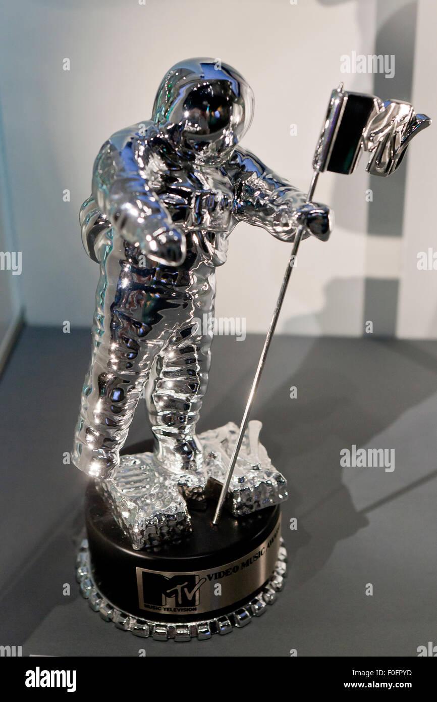 MTV Video Music Award (VMA) trophy 'Moonman' award - USA - Stock Image