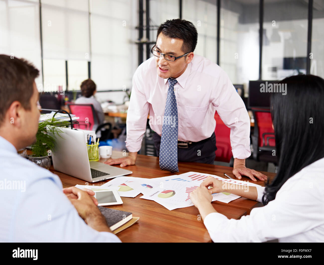 poor management style - Stock Image