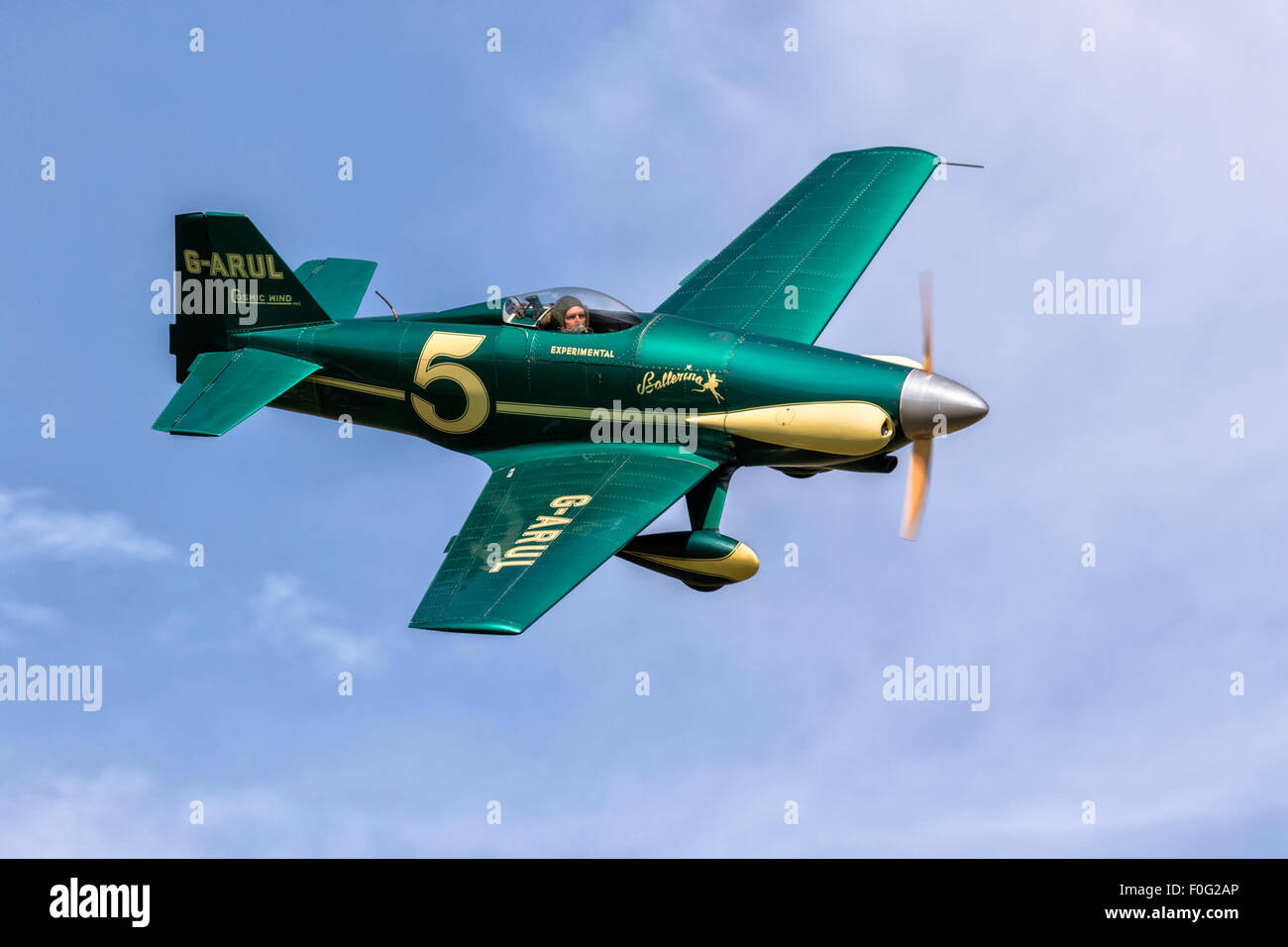 A classic US racing aircraft - The LeVier Cosmic wind - Stock Image