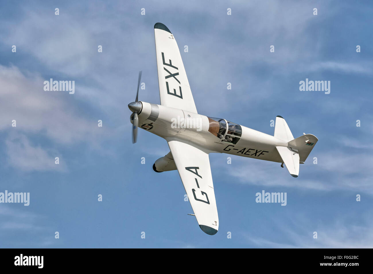 Percival Mew Gull - classic vintage racing aircraft - Stock Image