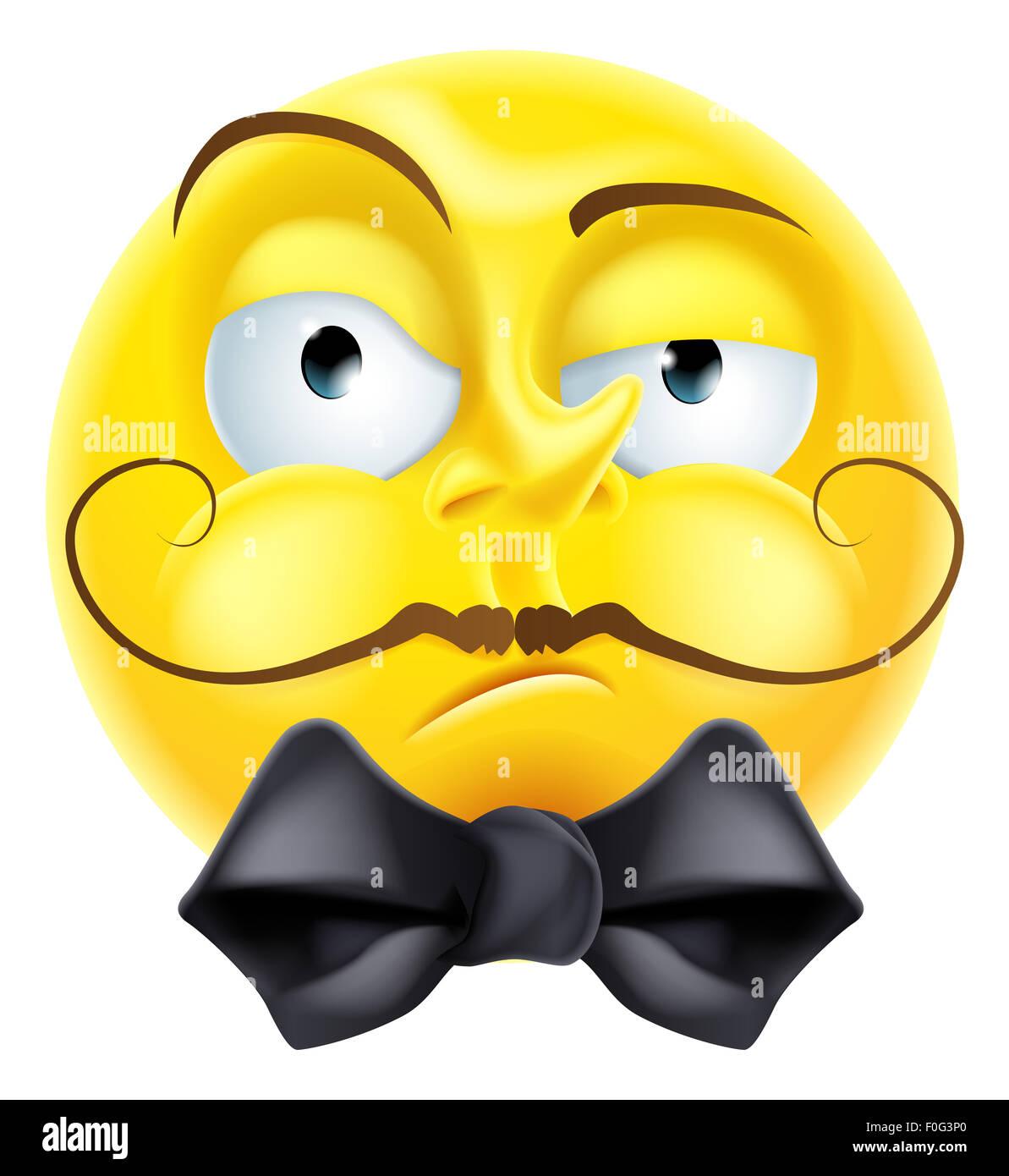 A Snooty Arrogant Condescending Looking Emoji Emoticon Smiley Face