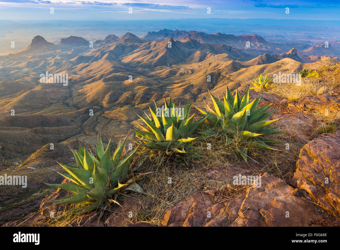 Big Bend National Park in Texas is the largest protected area of Chihuahuan Desert the United States. Stock Photo